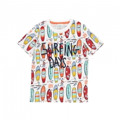 T-Shirt Boboli multi 'Surfing Days'
