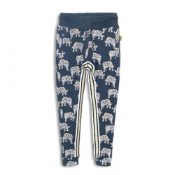 Leggings DJ blau/gold 'Leopardenliebe'